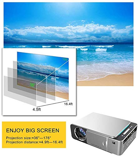 CVDEKH Full HD Proyector UNIC T6 1280x720 Proyector WiFi, Mini ...