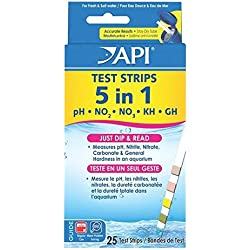 25 Ct. Good Popular 5 in 1 Aquarium Tester Strips Easy to Read Saltwater Check Accurate Results with Color Chart