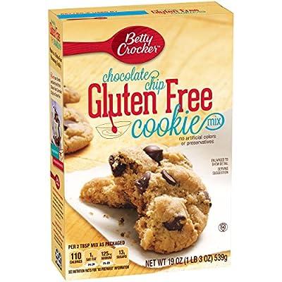Betty Crocker Baking Mix, Gluten Free Cookie Mix, Chocolate Chip, 19 Oz Box (Pack of 6)