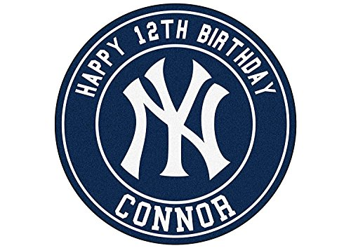 EdibleInkArt New York Yankees Cake Topper Personalized Birthday 6