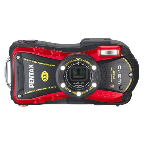 (PENTAX Water Proof Digital Camera PENTAX WG-10 Red 1cmMacro Macro Stand PENTAX WG-10RD)