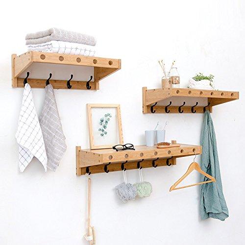 Amazon.com: Colgador de pared de bambú para colgar ropa ...