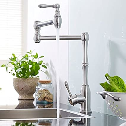 Hudson Reed Single Hole Retractable Kitchen Faucet In A Classic