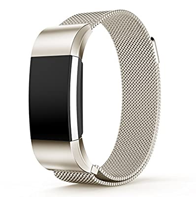 Soulen Replacement Milanese Bands for Fitbit Charge 2