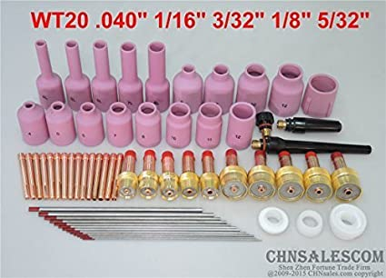 20 pcs TIG Welding Torch Kit  Long Nozzle WP-17 WP-18 WP-26 WP Tungsten