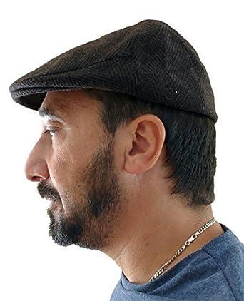 Equal Earth New Mens Wool Del Boy Flat Cap Gatsby News Boy Bunnet Hat From  Turkey Quality - Size 56cm  Amazon.co.uk  Clothing bac039a0bbc