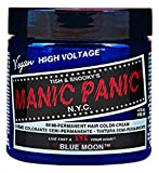 Bleaching Hair With Quick Blue - Manic Panic Moon Semi-Permanent Color Cream, Blue