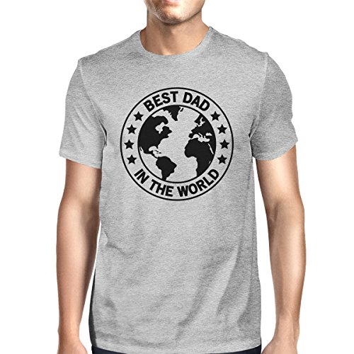 World para Grey manga hombre Printing Best Dad corta Size One 365 de Camiseta CqtzXxwS