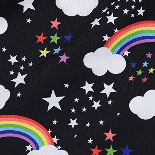 NUWFOR Infant Baby Kid Newborn Cartoon Rainbow Printed Ruffle Romper Bodysuit Outfits(Black,3-6Months) by NUWFOR (Image #6)