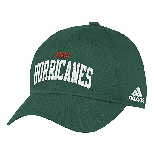- adidas NCAA Miami Hurricanes Women's Mascot Cap, Green, One Size