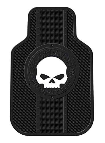 Harley Davidson Truck Floor Mats - Harley-Davidson Floor Mats Willie G Skull Universal-Fit Front Set of 2 Mats 1476