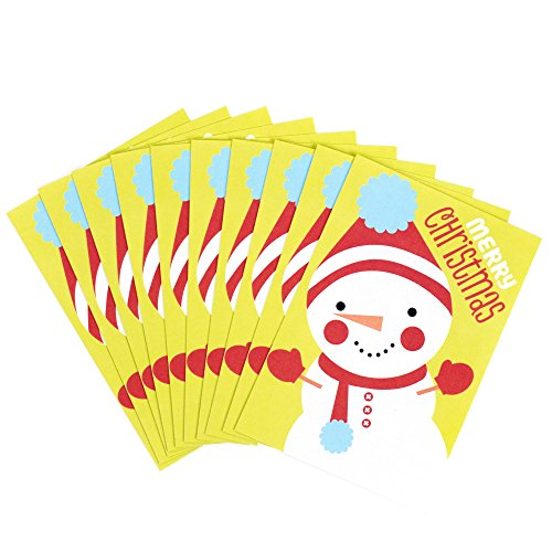 Hallmark Christmas Cards Pack, Snowman (10 Cards with Envelopes)