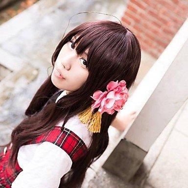 QINF APH Taiwan Brown Long Cosplay Wig
