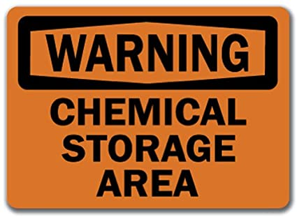 Warning sign chemical storage area 10 x 14 osha safety sign warning sign chemical storage area 10quot x 14quot publicscrutiny Image collections