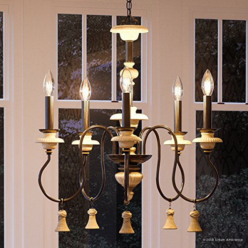 - Luxury French Country Chandelier, Large Size: 27.875
