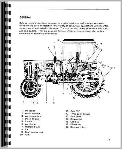 Belarus 800 Tractor Service Manual (1977-1994 ...