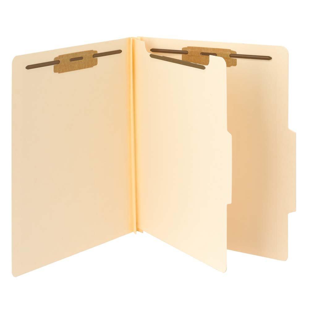Smead Classification File Folder, 1 Divider, 2'' Expansion, Letter Size, Manila, 10 per Box (13700)