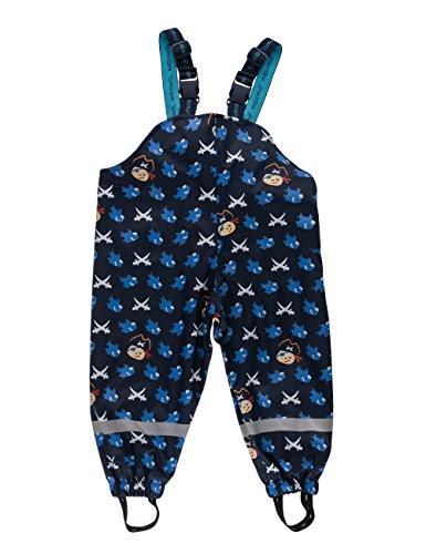 maximo Jungen Regenhose Sharky, Gr. 104, Blau (navy/aquamarine 1156)