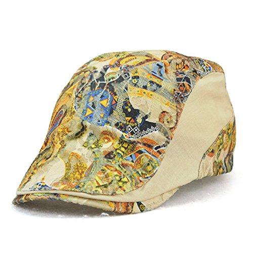 Women's Fashion Spring Summer Lace Print Visor Newsboy Beret Cap Hat