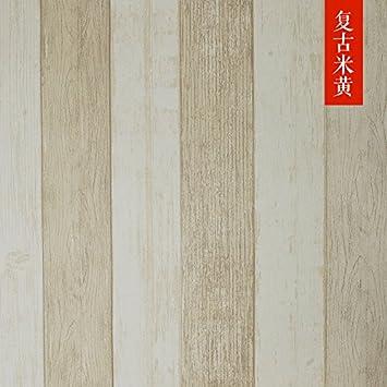 Xiajingjing Retro Vertikalen Streifen Wohnzimmer TV Hintergrund Wand  Vliestapete Schlafzimmer Mediterraner Stil Retro Holz Wallpapers,