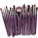 Makeup Brush Set,Han Shi 2017 Fashion 20 pcs 20pcs Make up Brushes Kits Toiletry Kit Clearance (M, Purple)