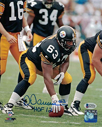 Dermontti Dawson Autographed/Signed Pittsburgh Steelers 8x10 Photo HOF BAS
