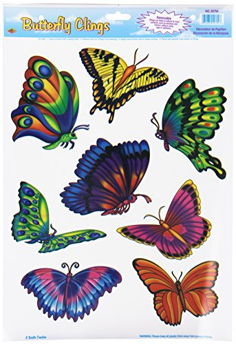 - Butterfly Clings Party Accessory (1 count) (8/Sh)