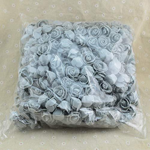 Aosreng 100Pcs/Lot Artificial Rose Flowers Mini PE Foam Rose Flower Head Handmade DIY Wedding Home Decoration Festive & Party Supplies Light Grey from Aosreng
