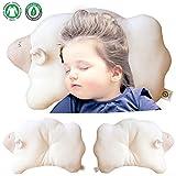 Functional Design. 17'' x 9''. Global Certified Organic Cotton Toddler Pillow. No Dyes,No Printing (Cloud Lamb)