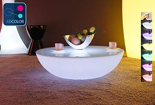 Table Basse Lumineuse Led Multicolore Moon Light Amazon Fr