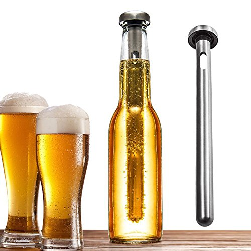 Instant Cold Beer - Winxer Beer Chiller Stick - Stainless Steel Bottle Chill Rod - Best Portable Beverage Wine Instant Cooling Sticks - Set of 2
