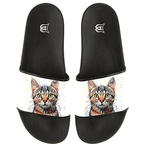 COWDIY Fashion Slide Sandals Cat Kitten Pet Beach Slippers Soft Flip Flops Bath Slippers For Men And Women