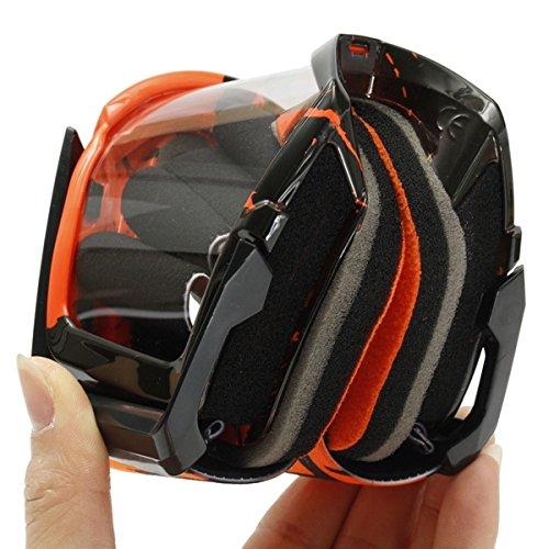 GOZAR Motocross Casco Clear Occhiali da Corsa Occhiali Antivento per Moto Fuoristrada ATV Quad Dirt Bike