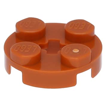 Round 2 x 2 with Axle Hole black 50 NEW LEGO Plate