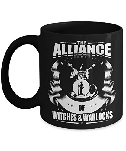 Halloween Coffee Mug - The Alliance of Witches & Warlocks Gift - 11oz or 15oz Ceramic Tea Cup