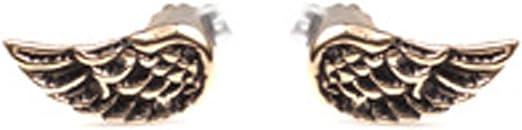 Womens 925 Sterling Silver Angel Wings Stud Earrings Pair-Girls