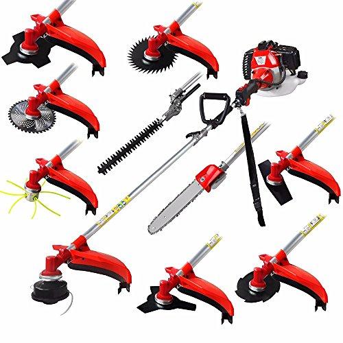 CHIKURA Multi 52CC 2-strokes 10 in 1 brush cutter grass trimmer lawn mower pruner tool by CHIKURA