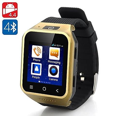 ZGPAX S8 Android 4.4 Smartwatch Phone - 1.54 Inch Display, Dual Core CPU, 4GB Internal Memory, 2 Megapixel Camera, 3G (High Megapixel Phone)