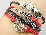 Koson-Man Boys / Girls Leather Metal Bracelet Multilayer Braided Friendship Bracelets Charm Bracelets