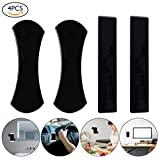 #2: Audew Sticky Gel Pad, Sticky Phone Holder for Car, Mobile Phone Dash-Mounted Holder, Cell Phone Stand Sticker, Nano Rubber Pads Car Mount Anti-Slip Stick to Anywhere (4pack)