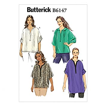 Butterick Schnittmuster 6147 – sehr Loose Fit Tops und Tuniken ...
