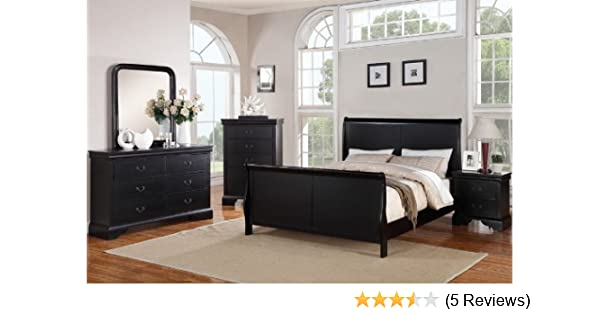 Amazon.com: Poundex PDEX-F9230EK-F4725-26-27-28 Louis Phillipe Black ...