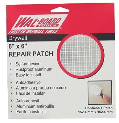 "Wal-Board 6"" x 6"" Drywall Repair Patch - Aluminum and Self-Stick Mesh"