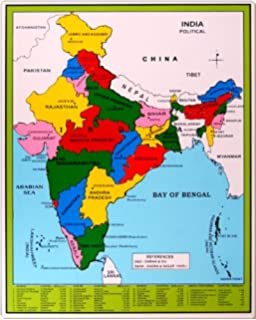 India Political Wall Map, 27.5x32 inches: Maps Of India: Amazon.in on sri lanka map, italy map, japan map, czech republic map, arabian sea map, cyprus map, indian subcontinent map, france map, croatia map, africa map, russia map, poland map, texas map, ireland map, maharashtra map, time zone map, argentina map, china map, iceland map, california map, brazil map, canada map, cuba map, norway map, greece map, thailand map, germany map, egypt map, europe map, andhra pradesh map, australia map, malaysia map, new zealand map, portugal map, korea map, karnataka map, spain map,