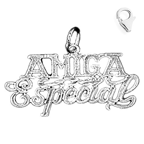 Jewels Obsession Amiga Especial Pendant | Sterling Silver 18mm Amiga Especial with 7.5