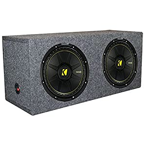 "2 New Kicker 40CWD122 12"" 1200W Car Subwoofers + Dual Sealed Sub Box Enclosure"