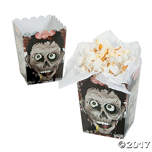 Kids Zombie Halloween (Halloween Zombie Head Mini Popcorn Boxes - 24 Count)