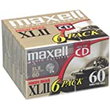 MAXELL XLII60-5+1 Blank Audio Cassette Tape (6 Pack)