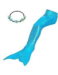 GALLDEALS Mermaid Tail for Swimming Kids Girls Womens Adults Swimsuit Swimwear
