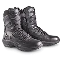 "Men's Converse 8"" Side - zip Duty Boots Black, Black, 7.5D"